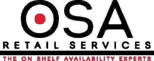 On Shelf Availability Retail Services (O.S.A.) Logo
